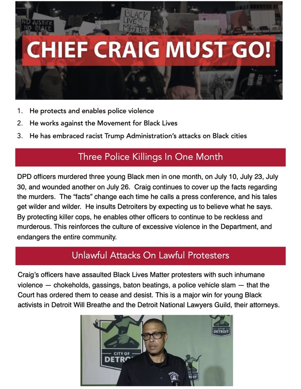 Chief Craig Must Go flyer PDF 1