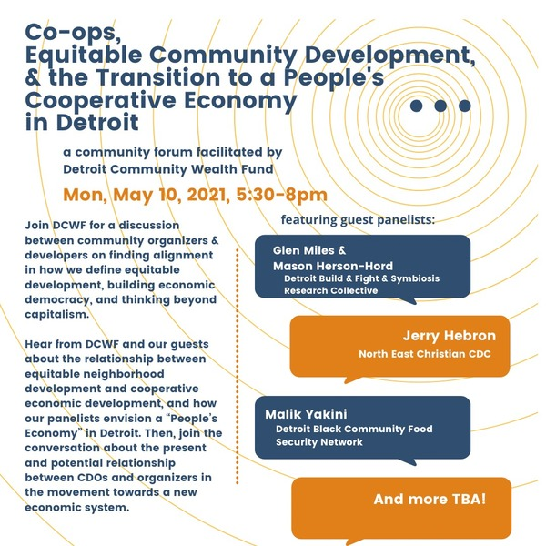 coops and comunitty organizers